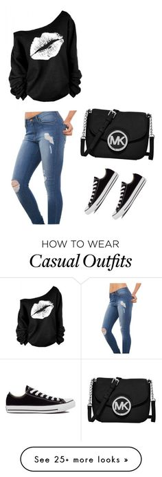 """Casual"" by bronte-waw on Polyvore featuring Akira Black Label, Converse and MICHAEL Michael Kors"