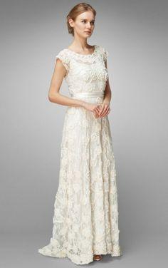 Phase Eight Vintage Style Lace Carolina Wedding Dress Size 8
