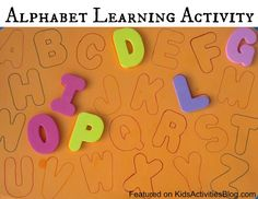 Alphabet Activity to help kids learn their letters and sounds