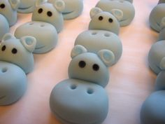 Fondant Cupcake Toppers  Hippos  3D by CakesAndKids on Etsy, $19.95