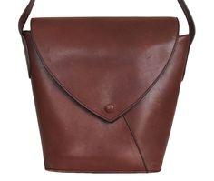 ERIC LAVILLE France Womens Handbag Leather Brown #EricLaville #ShoulderBag