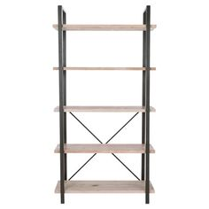 Display travel mementos or your favorite family photos on this rustic-chic metal etagere, featuring 5 fir wood tiers for natural appeal.       ...