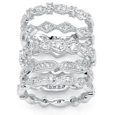 stackable wedding bands for women | Diamond Eternity Rings for Weddings and Anniversaries
