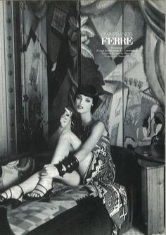 Linda Evangelista for Gianfranco Ferre' 1992