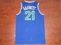Minnesota Timberwolves Cheap NBA #21 Blue Kevin Garnett Swingman Jersey [F620]