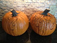 Simple to Sublime, These beautiful pumpkins are decorated using flourishes and crystals from Paperbug.net.  This was great fun.  #bling #halloween