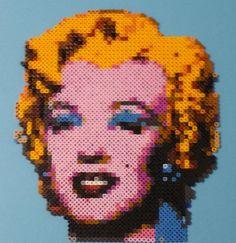 Marilyn Monroe Andy Warhol Bead Portrait by monochrome-GS.deviantart.com on @deviantART