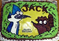 Regular Show cake, birthday cake