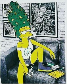 The Simpsons 💜💖💟💗❤💙💛💚 Weed Humor, Arte Dope, Dope Art, Psychedelic Art, Medical Marijuana, Simpsons Art, Street Art, Dope Wallpapers, The Simpsons
