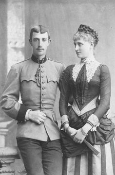 Archduke Otto of Austria and his fiancee Maria Josepha of Saxony From antiqueroyals.tumblr.com/page/7 detint