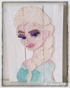 Queen Elsa - Frozen String Art by All Strung Up