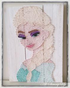 Queen Elsa - Frozen String Art by All Strung Up
