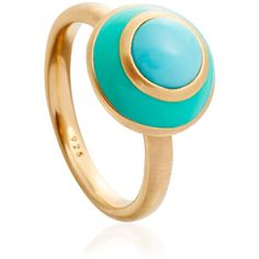 Astley Clarke Colour Turquoise Reef Ring ($37) ❤ liked on Polyvore featuring jewelry, rings, crown ring, astley clarke jewelry, wide band rings, turquoise jewelry and blue turquoise ring