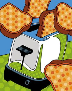 Flying Toast Digital Art - Flying Toast Fine Art Print - Ron Magnes