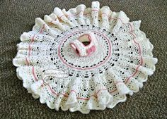 Lace and Ruffles Baby Dress Pattern by SuperMomCrochet on Etsy