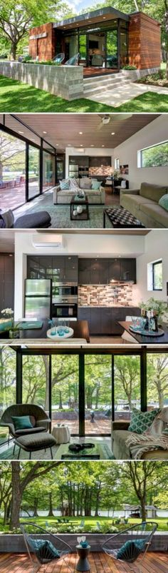 Marvelous and impressive tiny houses design that maximize style and function no 31 Building A Container Home, Container House Design, Tiny House Design, Garden Container, Cargo Container, Storage Container Homes, Container House Plans, Cottage Design, Casas Containers