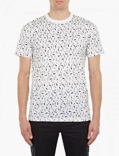 Lanvin White Cotton Footprint T-Shirt The Lanvin Cotton Footprint T-Shirt for AW16, seen here in white. - - This t-shirt from Lanvin is crafted from premium cotton and features a unique footprint motif throughout. - - - -Premium cotton co http://www.MightGet.com/january-2017-13/lanvin-white-cotton-footprint-t-shirt.asp