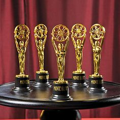 Movie Buff Gold Trophies - Oriental Trading  $11 for a dozen