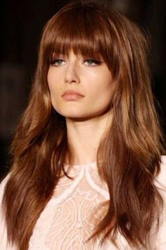 Bang Styles For Long Hair Amusing 33 Long Layered Hair Style With Bangs  Pinterest  Long Hairstyle