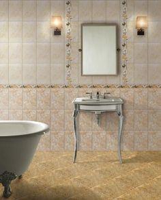 Un model de faianta elegant, cum este faianta Tripoli Beige transforma orice baie intr-o sursa de inspiratie. Corner Bathtub, Bathtub, Beige, Bathroom