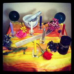 Beltane Altar set and ready