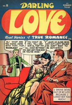 harry lucey cover, darling love...n8, summer 1951