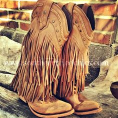 leather fringed boots