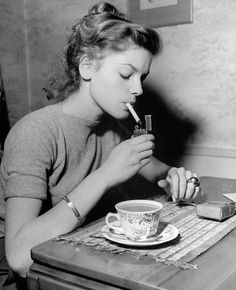 """10.8k Likes, 36 Comments - Lost in history (@lostinhistorypics) on Instagram: """"Lauren Bacall starting her morning right, 1946."""""""