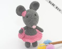 Miss Mini Mouse Soft Toy Ornament With Her Mini by TatieSoftToys, £4.99