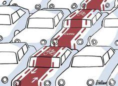 En avenidas de tránsito intenso siempre un carril reservado a la bici