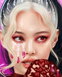 Blackpink Poster, Art Painting Gallery, Lisa Blackpink Wallpaper, Kpop Drawings, Beautiful Fantasy Art, Black Pink Kpop, Digital Art Girl, Cybergoth, Blackpink Photos