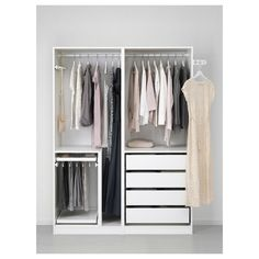 Schlafzimmer PAX wardrobe - white - IKEA Your Mattress – No Piece Of Furniture Impacts You More Arti Dressing Pax Ikea, Pax Planer, Bedroom Furniture, Bedroom Decor, Pax Wardrobe, White Wardrobe, Corner Wardrobe, Wardrobe Storage