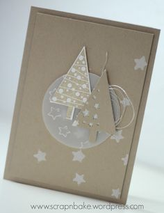 Fir trees and stars - Scrap'n'bake - Weihnachten Christmas Cards To Make, Xmas Cards, Diy Cards, Handmade Christmas, Holiday Cards, Christmas Decorations, Christmas Trees, Karten Diy, Creative Cards