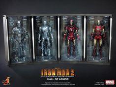 """Hot Toys Escala 1/6 do Salão de armadura de """"Homem de Ferro 2″"""