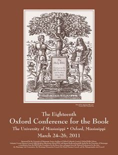 The poster for the 18th annual Oxford Conference for the Book in 2011.