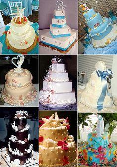 Great Ideas (and Photos!) for Beach Theme Wedding Cakes