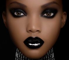 intense black look - interested in trying this line of makeup for women of color (the packaging looks like smash box/nars - the photoshop on this pix is kinda Over The TOP, it looks like an avatar)