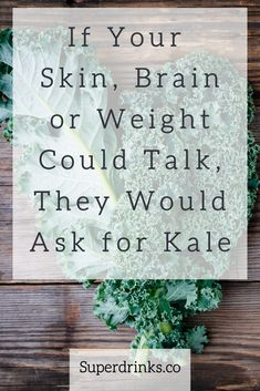 Kale is not only one of the most nutrient-dense foods on the planet. It is low-calorie, low-fat and actually loaded with immune boosting vitamins, including Vitamin A and Vitamin C, too. And if your brain, skin and weight could talk, they would thank you for kale smoothies. #Kale #kalerecipes #Smoothies #brainfood #healthysmoothies #GreenSmoothie #skinfood #Superdrinks #HealthySmoothieRecipes #kalesmoothie #KaleBenefits Blueberry Kale Smoothie, Almond Milk Smoothie Recipes, Energy Smoothie Recipes, Chocolate Smoothie Recipes, Energy Smoothies, Breakfast Smoothie Recipes, Weight Loss Smoothie Recipes, Healthy Smoothies, Healthy Drinks