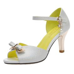 bd45750370f1f7 LAIKAJINDUN Women s Bowknot Pump Ankle Strap D Orsay   Click image to  review more details