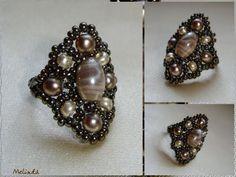 krémszínű gyűrű / creamy beige ring