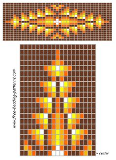 Golden Glow  Beaded Chart
