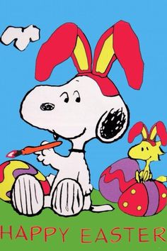 Snoopy and Woodstock Happy Easter Images Snoopy, Snoopy Pictures, Funny Pictures, Peanuts Cartoon, Peanuts Snoopy, Schulz Peanuts, Peanuts Comics, Image St Valentin, Charlie Brown Und Snoopy