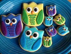 Owl Family Cookies  1 Dozen by hellobakery on Etsy, $25.00