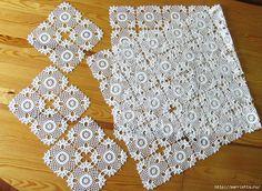 Вязание крючком. Красивая скатерть. СХЕМА (6) (700x512, 456Kb)