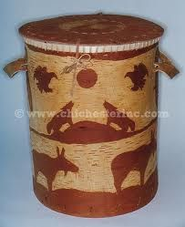 Carved canister with lid