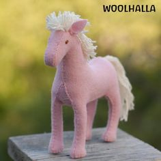 Felt Horse Pattern PDF -Instructions New and Improved. $5.00, via Etsy.