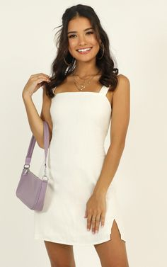 Complete your look with the Fast Progress Dress In White from Showpo! Buy now, wear tomorrow with easy returns available. Grad Dresses, Sexy Dresses, Mini Dresses, Stylish Dresses, Short Dresses, Fashion Dresses, Classy Casual, Latest Fashion Trends, Spring Outfits