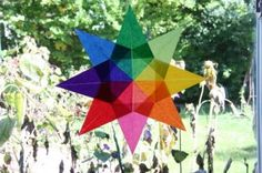 kite paper perfect for origami! by Palumba--this is what I want for the art classroom window
