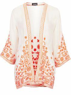 kimono brodé topshop