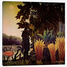 The Snake Charmer Canvas Print #1385} by Henri Rousseau Canvas Art